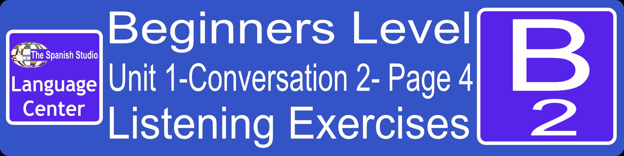 Spanish Listening Exercises Button B2